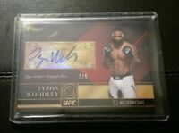 #7/8 Tyron Woodley Rare Ruby Auto 2016 Topps UFC Top of Class Autograph