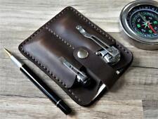 mens pocket organizer wallet EDC Knife wallet EDC organiser Leather EDC pouch