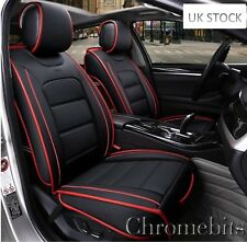 BMW Series 1 3 Deluxe Black PU Leather Front Cushion Seat Covers