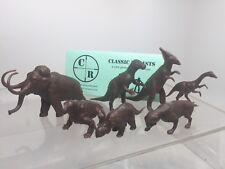 Recast Marx Dinosaurs, Set Of Seven Prehistoric Playset