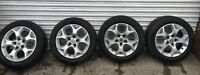 VAUXHALL ASTRA H ZAFIRA  5 STUD ALLOY WHEELS GOOD TYRES X4 UK POSTAGE AVAILABLE