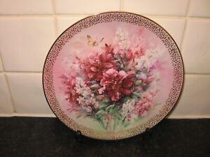 LENA LIU FLOWERS   PLATE  -  HIBISCUS MEDLEY  -  BRADFORD EXCHANGE