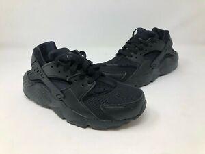 Nike Huarache Run (GS) Black/Black Boys Size 6 US (654725-016)