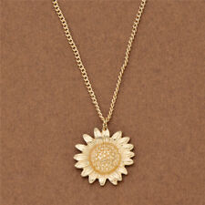 Fashion Gold Plated Sunflower Chain Necklace Gold Women's Jewelry Charm Gift