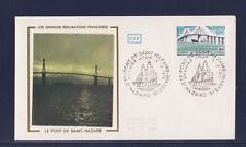 enveloppe 1er jour   pont de Saint Nazaire  Saint Brévin      1975