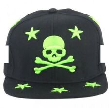 Star Pirate Unisex Snapback Headwear Cap (Black/Green)