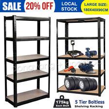 Large Garage Racking 5 Tier Shelving Unit Boltless Metal Shelf Shed Storage UK