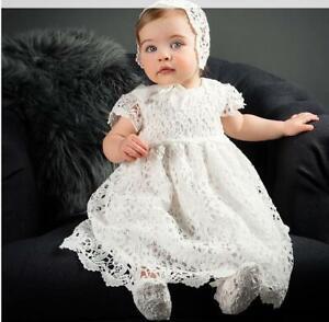 Baby Mädchen Taufkleider Blume Taufe Geburtstag Fest Kleid Hochzeit Partykleid