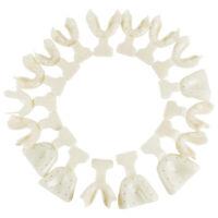 Top 17×Dental Edentulous Jaw Impression Trays Full Denture Frame Cut Back Teeth