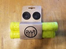Cult AK BMX Bike Grips - No Flange - Luminous Yellow - 22.2mm 6 1/4""