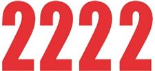 Pack of 4 x Number 2 in Red UK KART STORE