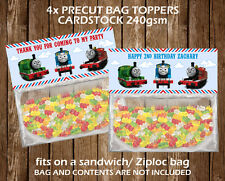 Thomas the Tank Personalised Bag Topper Birthday Party Favour Gift Bag Children