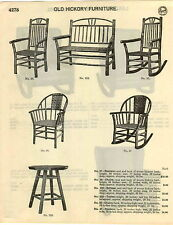 1929 PAPER AD 9 PG Old Hickory Furniture Chair Rocker Settee Swing Table Slat