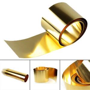 Messing Blech Folie Platte Streifen Metallband Dicke 0.02x100x1000mm DE