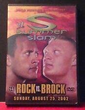 WWE - Summerslam 2002: Rock vs. Brock (DVD, 2002) WWF Rare And OOP