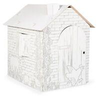 Casa Cartón para Niños Juego para Pintar Dim 87x71x88