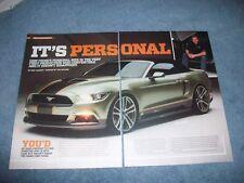 "Chip Foose Custom 2015 Mustang GT Convertible ""It's Personal"" S550"