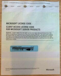 20 CAL Microsoft Windows Server 2012 Remote Desktop RDS Terminal Server Services