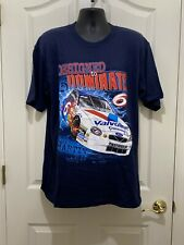Vintage Mark Martin Valvoline Cummings #6 Designed  T-Shirt Size Large Roush