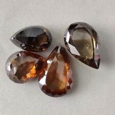 Pear Rose Cut Loose Moissanite For Making Ring 3.58 Ct 12.06 x 7.84 Mm I-1 Brown