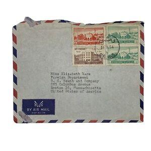 1954 DAMAS SYRIA COVER SENT TO BOSTON MASSACHUSETTS, DAMASCUS COLLEGE
