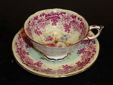 PARAGON ROSE DAISIES AND GRAPES VINES CUP AND SAUCER