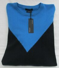 LADIES MARKS AND SPENCER AUTOGRAPH PURE CASHMERE BLUE GREEN NAVY JUMPER SIZE L