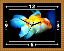 Fish Coldwater Goldfish Clock Present Christmas Birthday (Can Be Personalised)