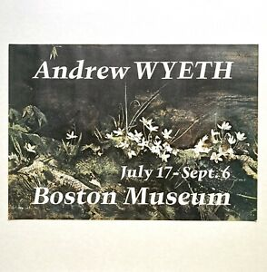 Rare Vintage 1970 Andrew Wyeth Signed Boston Museum Exhibition Poster, May Day