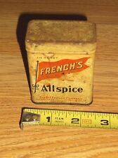 VINTAGE TIN-THE R.T. FRENCH COMPANY-FRENCH'S ALLSPICE 1 1/2 OZ.NET