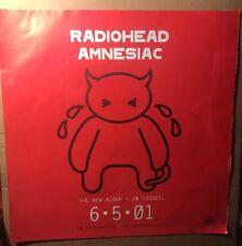"Radiohead ""Amnesiac� Red Promotional Window Display"