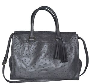 COACH Pinacle Elevated Ostrich Leighton Frame Carryall Shoulder Bag Purse 23502