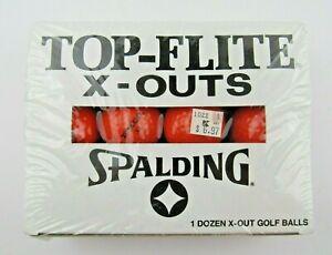 12 Vintage Top Flite X-Outs Orange Golf Balls The Longest Balls - NEW Rare