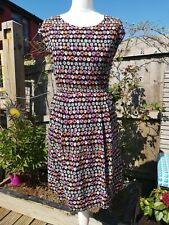 M&S Limited Collection Black Floral Daisy Print Shift Dress Size 10 Spring...