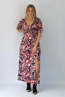 ELLA Pink Multicolour Empire Long Maxi Party Dress | SALE | Was £29