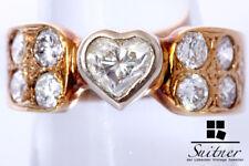 ca. 1,90ct. XL Herz Diamant Ring mit Brillanten 585 Gold Gr. 57