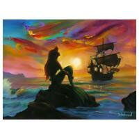 "Disney, Jim Warren ""Waiting for Ship to Come In"" Signed Limited Edition Canvas"