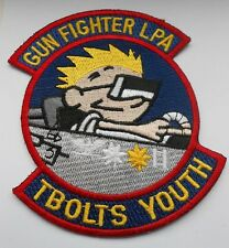 RAF/USAF squadron  cloth patch   GUN FIGHTER LPA T BOLTS YOUTH