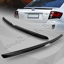 For 2008-2014 Subaru Impreza WRX Unpainted Black ABS Rear Trunk Lip Spoiler Wing