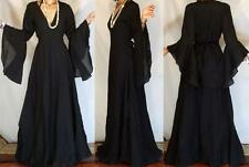 ETHNIC BOHO Vtg 70's ETHNIC GOTHIC ANGEL VAMPIRE BUTTERFLY SL  GYPSY  MAXI DRESS