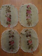 4 anciennes tapisseries de siege XIXe aubusson manchon fauteuil coussin 9