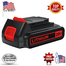 20V Max 2.0Ah Lithium ion Battery for Black & Decker 20V LB20 LBX20 LBXR20 40Wh