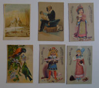 1900's Heisel & Son Confectioners Lot of 6 original advertising cards