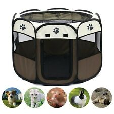 Portable Folding Outdoor Pet Dog Cat Playpen Fabric Soft Kennel Cage Tent Fence