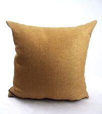 "Pillow Cover Cushion Case Rust  16"" Sham Gold Brown Pillowcase Couch Sofa Solid"