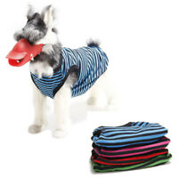 CO_ Summer Stripe Puppy Pet Dog Cat T-Shirt Vest Shirt Dog Clothes Costume Placi