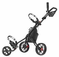 CaddyTek Deluxe 3 Wheel Golf Push Cart Version 3 CaddyLite 11.5 V3-BLK IN HAND