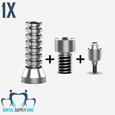 X 1 Zimmer 4.5 Straight Multi Unit 4mm  Internal Hex Dental Implant