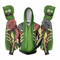 Rick and Morty 3D Print Hoodies Sweatshirt Zip Up Cool Coat Top Cosplay Costume