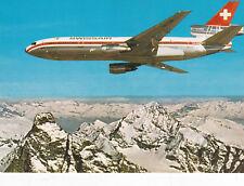 Mcdonnel Douglas DC10 Swissair Postcard Unused VGC